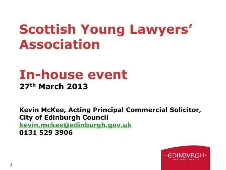 Scottish Young Lawyers' Association