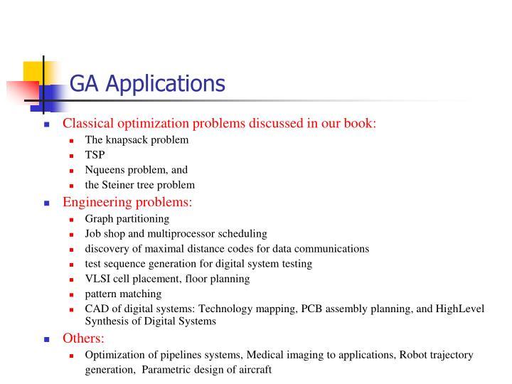 GA Applications
