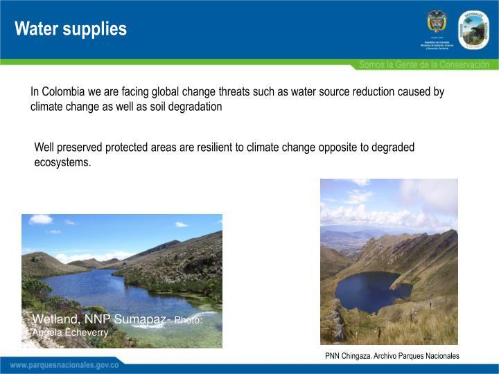 Water supplies