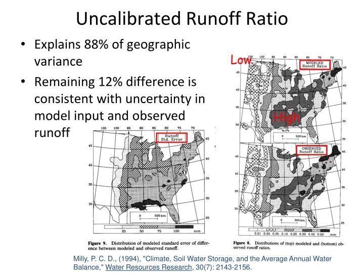 Uncalibrated Runoff Ratio