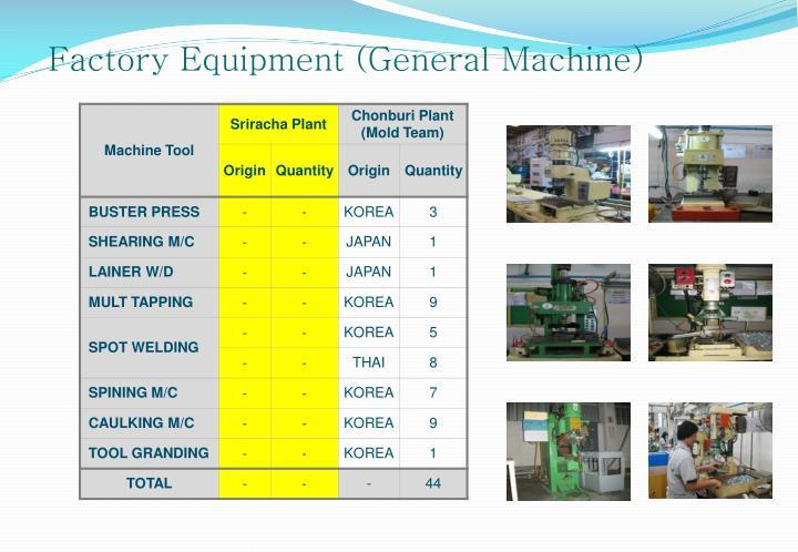 Factory Equipment (General Machine)