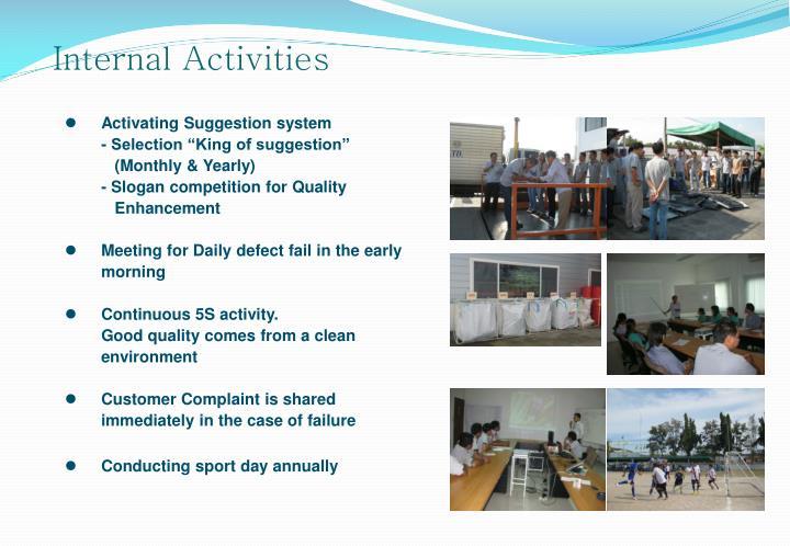 Internal Activities
