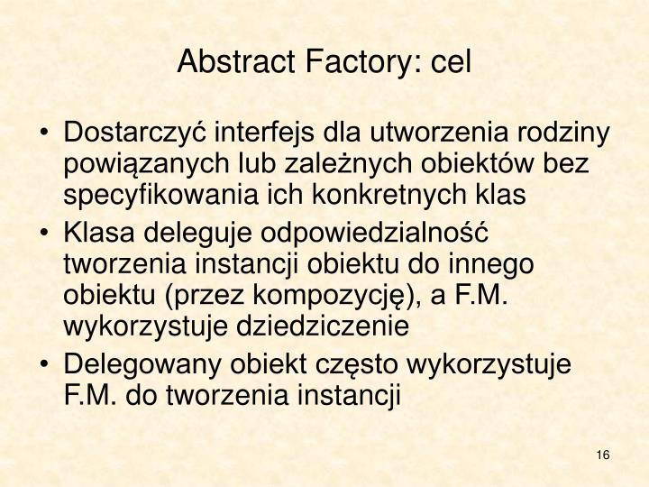Abstract Factory: cel