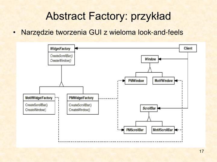 Abstract Factory: przykład
