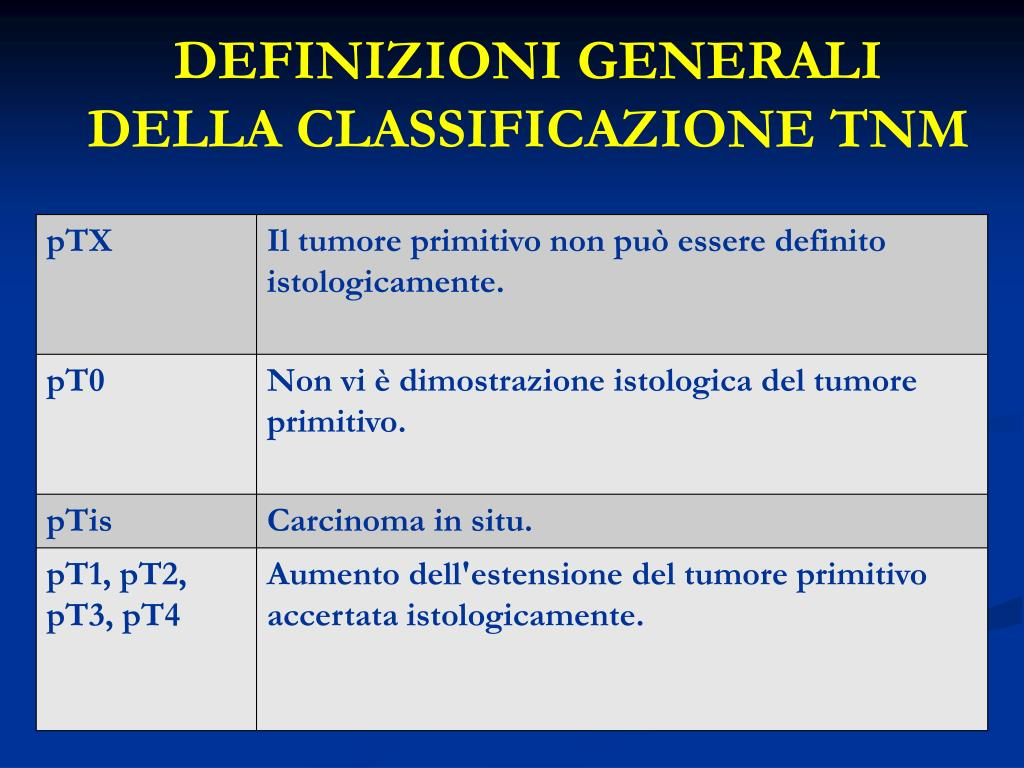 tumore prostata stadiazione tnm system