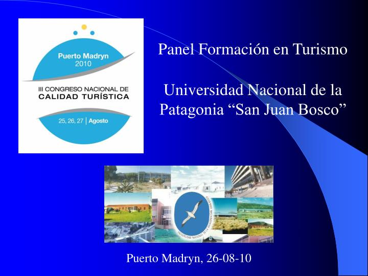 Panel Formación en Turismo