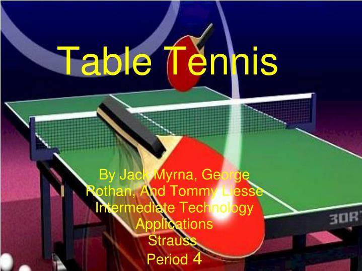 table tennis n.