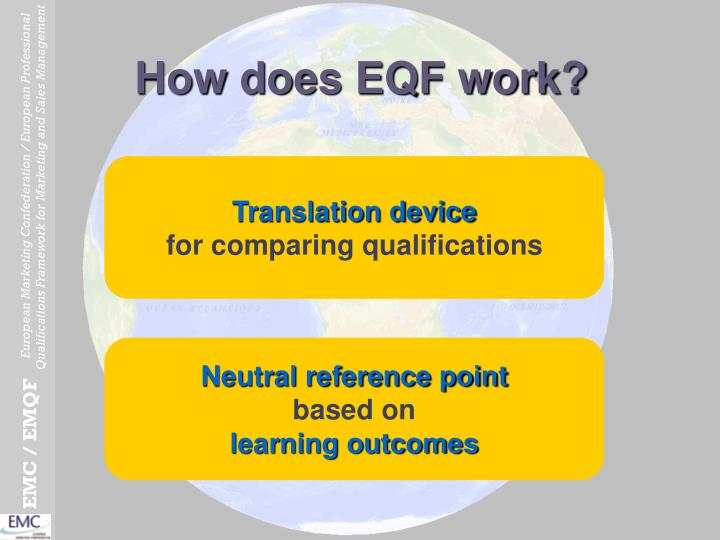 How does EQF work?
