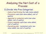 analyzing the net cost of a process2
