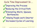 cycle time improvement is4