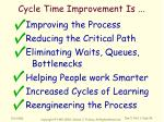 cycle time improvement is5