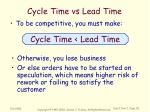 cycle time vs lead time
