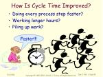 how is cycle time improved