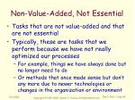 non value added not essential