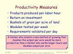 productivity measures