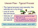 uneven flow typical process