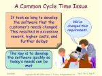 a common cycle time issue