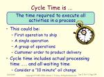 cycle time is