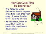 how can cycle time be improved