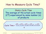 how to measure cycle time