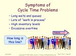 symptoms of cycle time problems