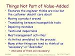 things not part of value added