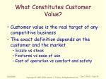 what constitutes customer value