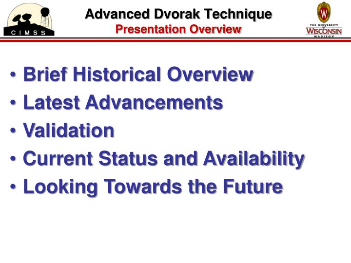 Advanced dvorak technique presentation overview