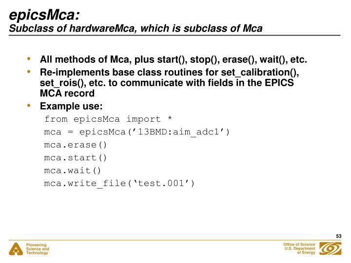 epicsMca: