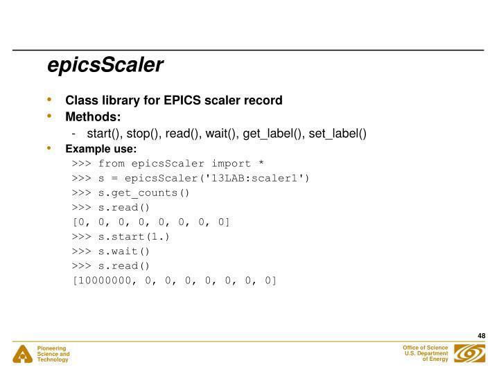 epicsScaler