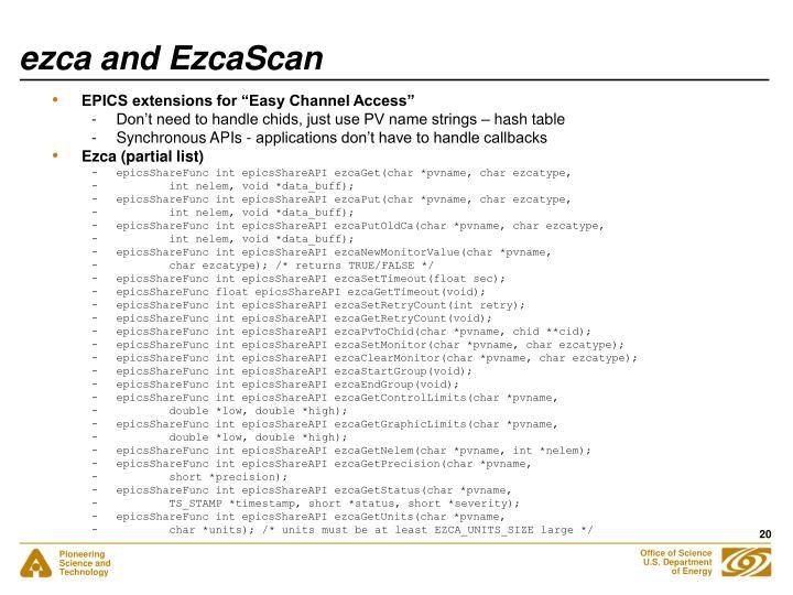 ezca and EzcaScan