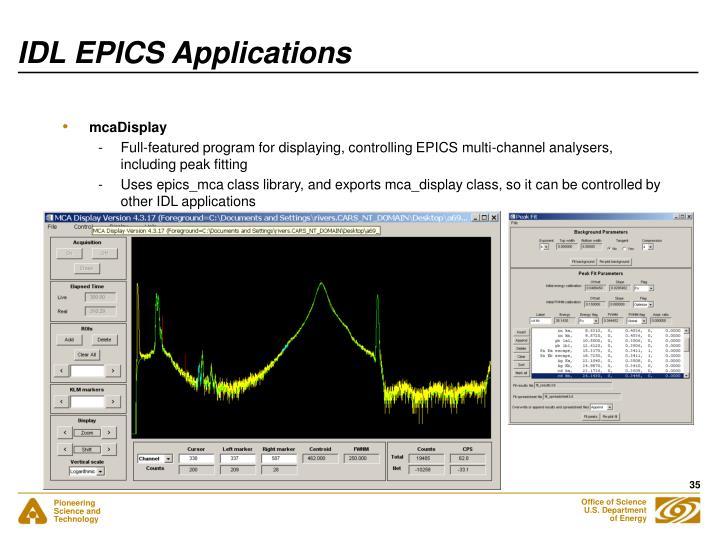IDL EPICS Applications