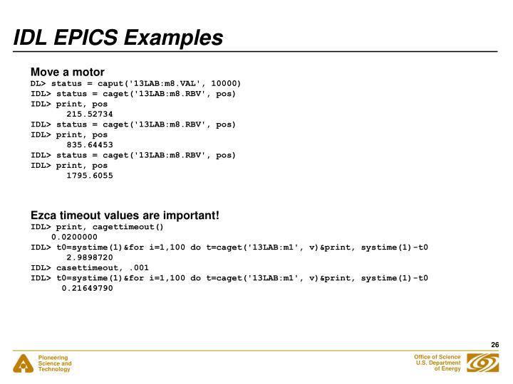 IDL EPICS Examples