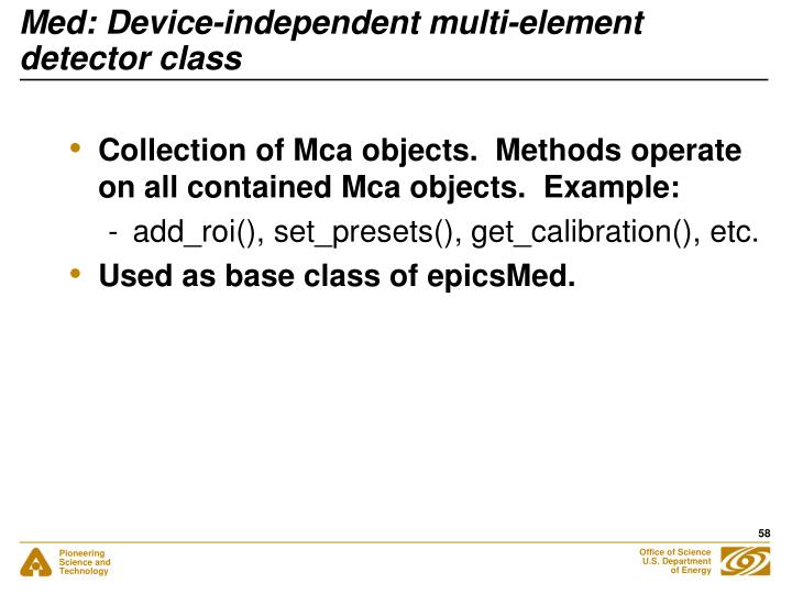 Med: Device-independent multi-element detector class