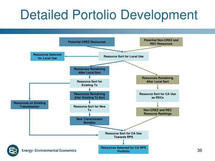 Detailed Portolio Development