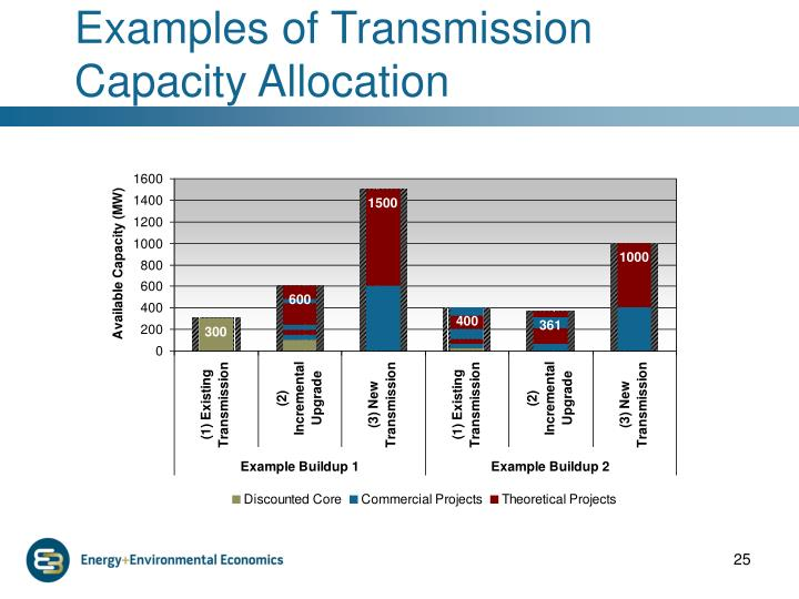 Examples of Transmission Capacity Allocation
