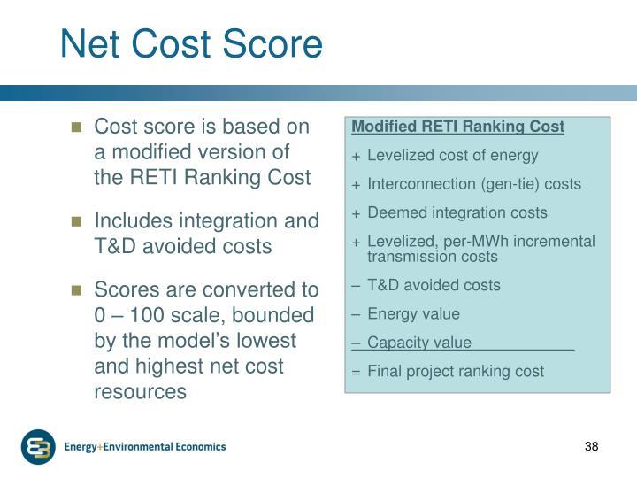 Net Cost Score