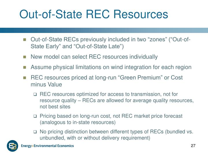 Out-of-State REC Resources