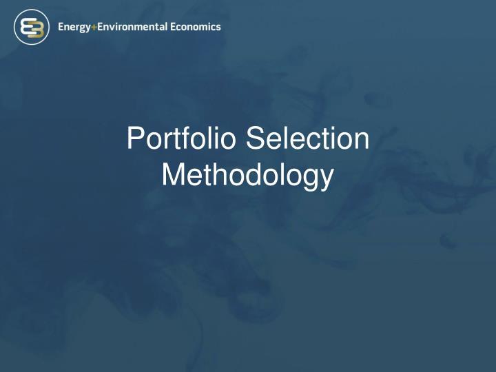Portfolio Selection Methodology