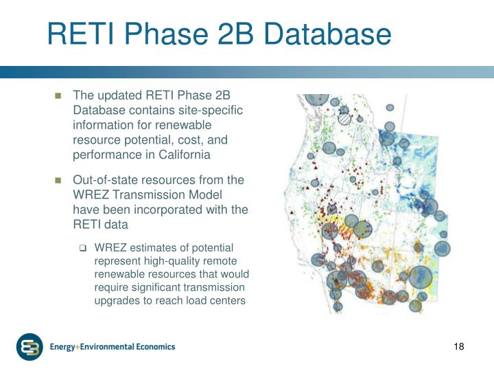 RETI Phase 2B Database
