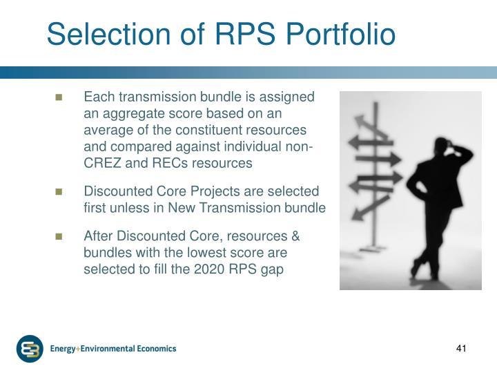Selection of RPS Portfolio