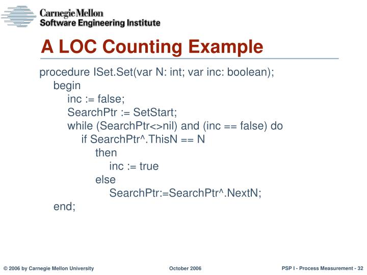 A LOC Counting Example