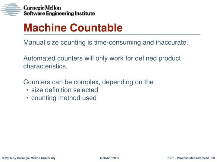 Machine Countable