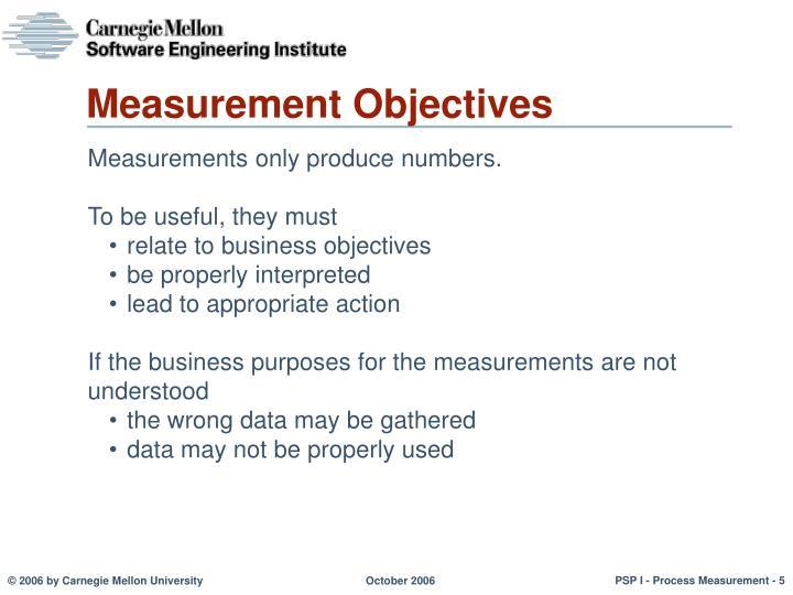 Measurement Objectives
