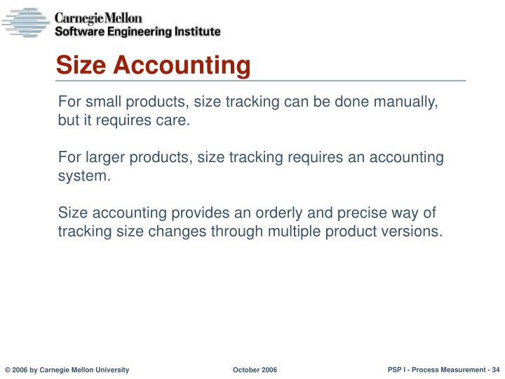 Size Accounting