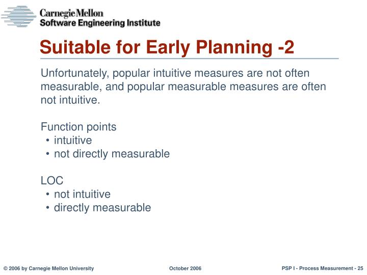 Suitable for Early Planning -2
