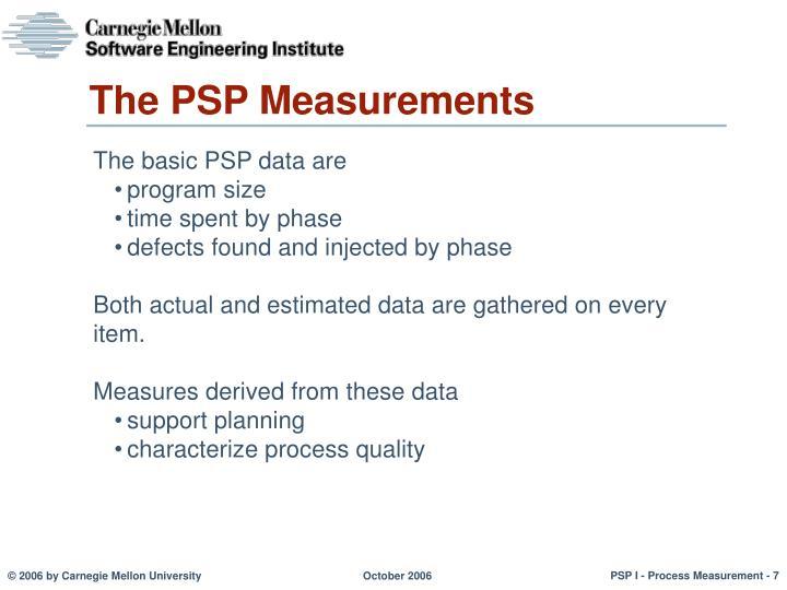 The PSP Measurements