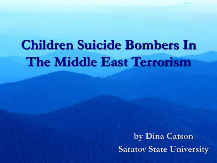 children suicide bombers in the middle east terrorism n.