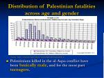 distribution of palestinian fatalities across age and gender