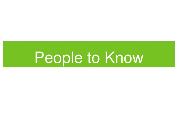people to know n.